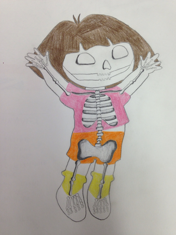 Skeleton Cartoon - Maya Aizhulova's Art Blog